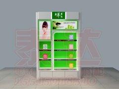 盈萃草本化妆品展柜|背柜|前台|彩妆台