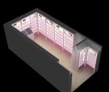 地市县城专用化妆品展柜效果图片